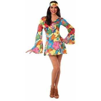 Forum Novelties Groovy Go Go Dress - Adult Med/Lrg  sc 1 st  Ronjo Magic : groovy costumes  - Germanpascual.Com
