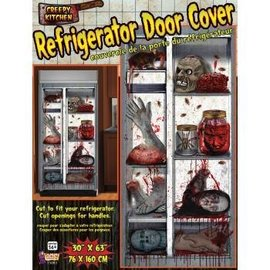 Forum Novelties Refrigerator Door Cover -  Creepy Kitchen