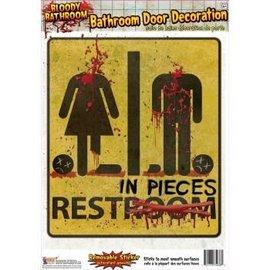 Forum Novelties Bathroom Door Sign - Bloody Bathroom