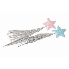 RG Costumes And Accessories Star Wand -  Blue Lame'