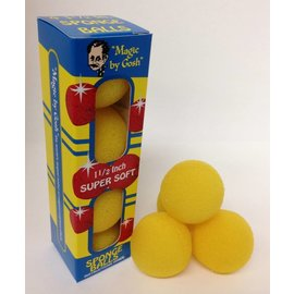 Fun inc. 1 1/2 inch 4 Super Soft Sponge Balls - Yellow (M13)