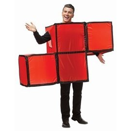 Rasta Imposta Tetris Tetrimino Red - Adult