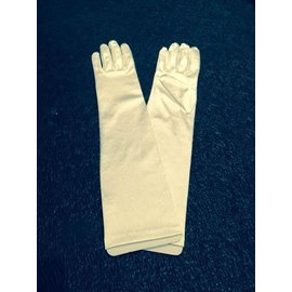 Beyco Gloves White Elbow Length Satin