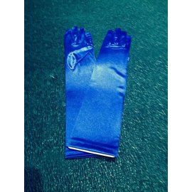 Beyco Gloves Blue Elbow Length Satin