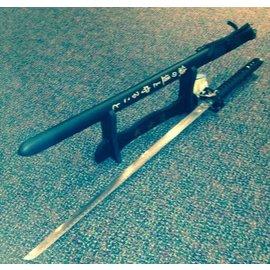 Samurai Dojo Sword dlx w/stand - Black