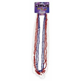 Forum Novelties Party Beads Red White and Blue