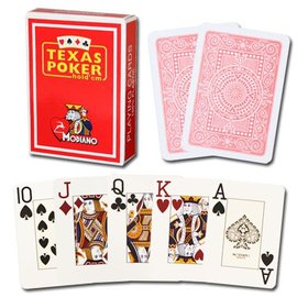 Modiano Modiano Texas Poker Jumbo - Red (M5)
