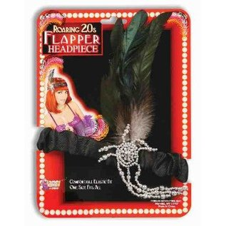 Forum Novelties Charleston Flapper Head Piece Black