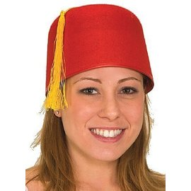 Jacobson Hat Company Fez Hat, Red - One Size
