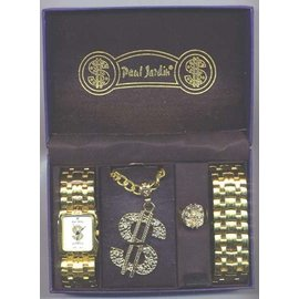 Paul Jardin Pimp Watch and Jewlery  Set - Silver