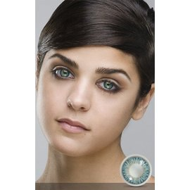 Fine And Clear Topaz Blue Contact Lenses (C2)