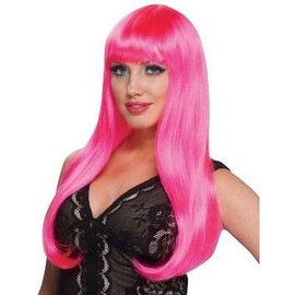 Incognito Diva Wig, Hot Pink