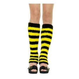 Leg Avenue Leg Warmers - Black/Yellow (C4)