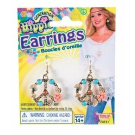 Forum Novelties Earrings - Hippie