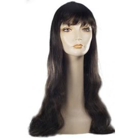Lacey Costume Wig Long Pageboy, Dk. Brown Wig