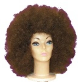Lacey Costume Wig Jumbo Afro, Brown - Wig