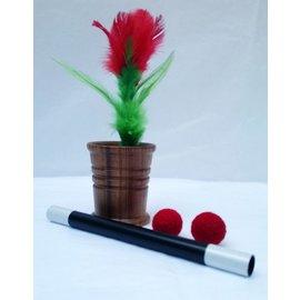 Sunil Batra Chop Cup - Wood, w/Flower