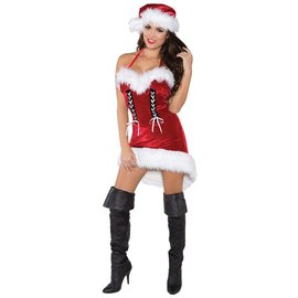 Underwraps Miss Santa - Adult Medium 8-10