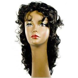 Lacey Costume Wig Wavy Showgirl Black Wig