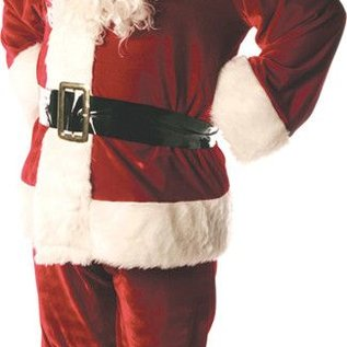 Underwraps Triple Velvet Lined Santa Suit - Std 42-46