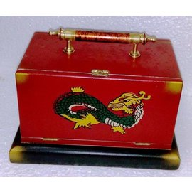 MAK Magic Large Silk Cabby With Handle - Dragon Design