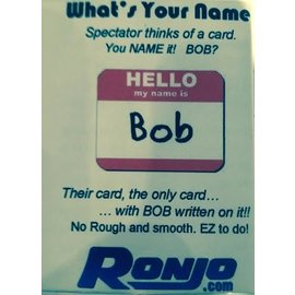 Ronjo Card - Hello My Name Is Bob (/1014)