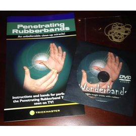 Trickmaster Magic Penetrating Rubberbands AKA Wonderbands DVD (M10) Combo
