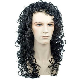 Morris Costumes French King, Black Wig