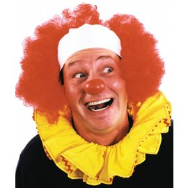 Morris Costumes Clown Wig Bald Curly Red - Wig