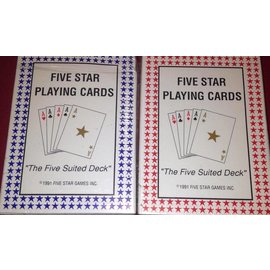 Five Star Games Inc. Five Star Playing Cards - Red Cards (M8)