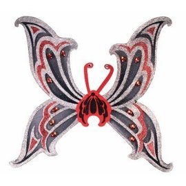 Forum Novelties Black and Silver Glitter Wings