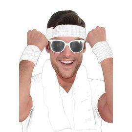 Forum Novelties White Frame Sunglasses