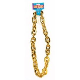 Forum Novelties Jumbo Chain Necklace, Gold