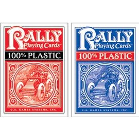 U.S. Games Rally Plastic Playing Cards, Red