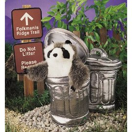 Folkmanis Raccoon in Garbage Can Puppet by Folkmanis