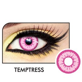 Fine And Clear Temptress Pink Contact Lenses (C2)