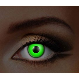 Fine And Clear Glow in the Dark Green Contact Lenses (C2)