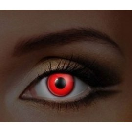 Fine And Clear Glow in the Dark Red Contact Lenses (C2)