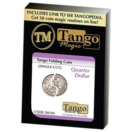 Tango Folding Coin Quarter Dollar Traditional Single Cut (D0180) by Tango (M10)