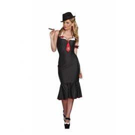 Dreamgirl Deadly Dames Gangsta - Adult Small