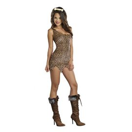 Dreamgirl Cave Girl Starter Dress - Adult Large by Dreamgirl
