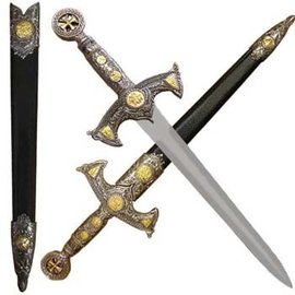 India Knights Templar Dagger and Scabbard (M1)