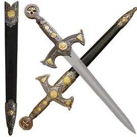 Knights Templar Dagger Short Sword With Scabbard