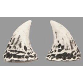 Pans House Of Horns Horns Puck - 3D White w/Black