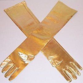 Beyco Gloves Gold Shoulder Length Lame'