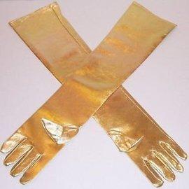 Beyco Gloves Gold Shoulder Length Lame'