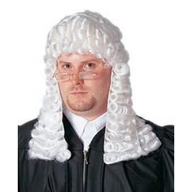 Costume Culture by Franco American Deluxe Judge Wig, White