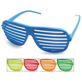 Aviator Blinds Neon Sunglasses Blue