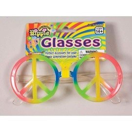 Forum Novelties Rainbow Peace Sign Glasses (C3)