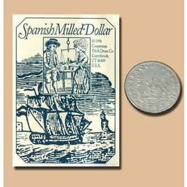 cooperman Replica Coin Spanish Milled Dollar - Silver